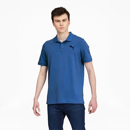 Camiseta tipo polo Essentialsde piqué para hombre, Star Sapphire-Cat, pequeño