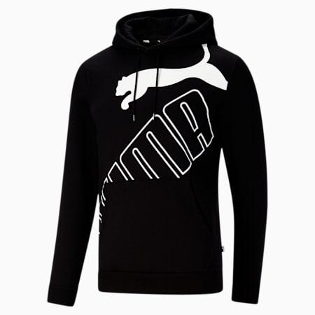 Big Logo Men's Hoodie, Puma Black, small