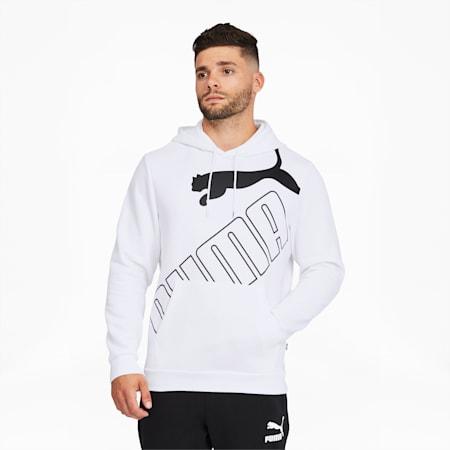 Big Logo Men's Hoodie, Puma White, small