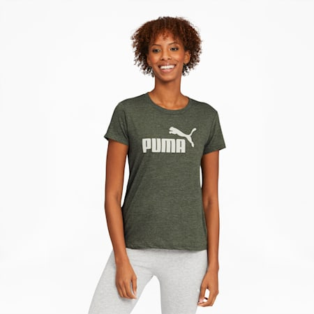 Essentials+ Women's Logo Heather Tee, Thyme Heather, small
