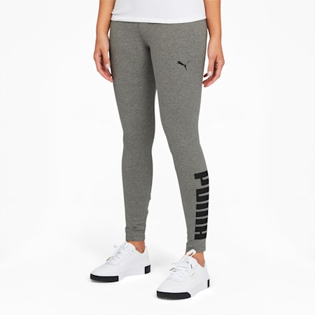 Athletic Women's Logo Leggings, Medium Gray Heather, small