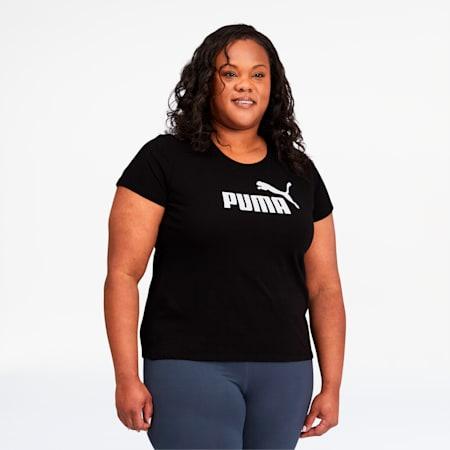 Camiseta Essentialscon logo para mujer PL, Cotton Black, pequeño