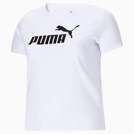 T-shirt à logo PL Essentials, femme, Blanc Puma, petit