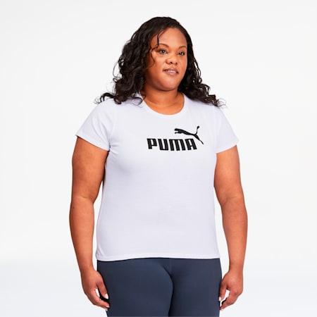 Essentials Women's Logo Tee PL, Puma White, small
