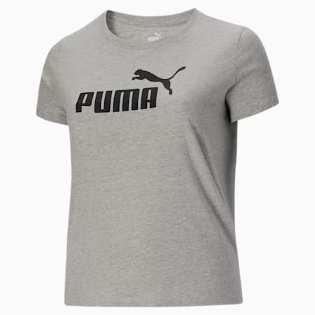 T-shirt à logo PL Essentials, femme, Gris bruyère clair, petit
