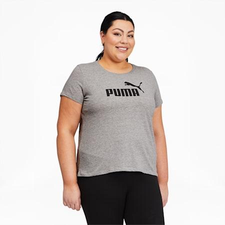 Camiseta Essentialscon logo para mujer PL, Light Gray Heather, pequeño