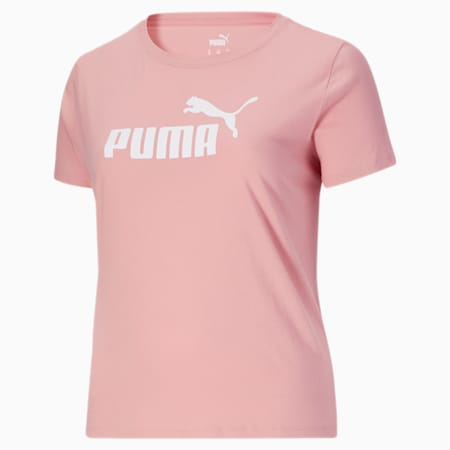 Camiseta Essentialscon logo para mujer PL, Bridal Rose-Puma White, pequeño