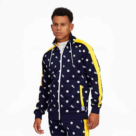 NYC Men's Track Jacket, Peacoat-AOP, small