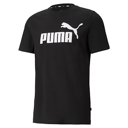 T-shirt logo Essentials, homme, Puma Black, petit