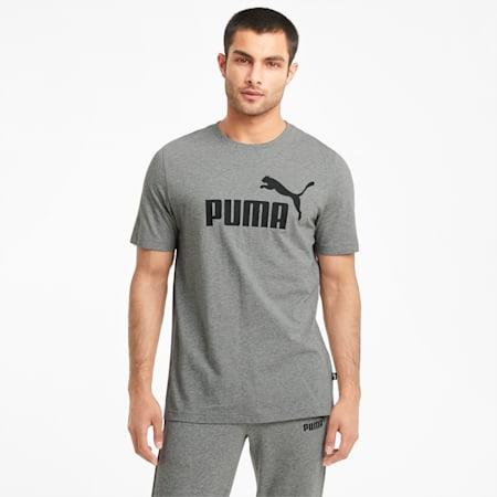 T-shirt logo Essentials, homme, Gris bruyère moyen, petit