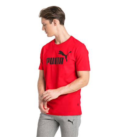 Camiseta con logo Essentials para hombre , Puma Red, pequeño