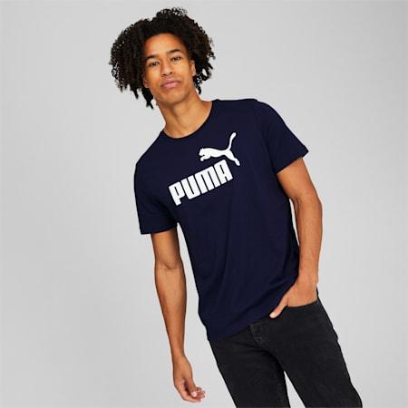 Camiseta con logo Essentials para hombre , Peacoat, pequeño