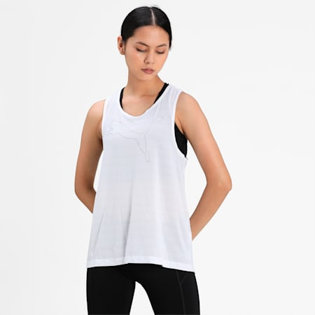 RTG Layer Women's Loose Tank Top, Puma White, small-IND