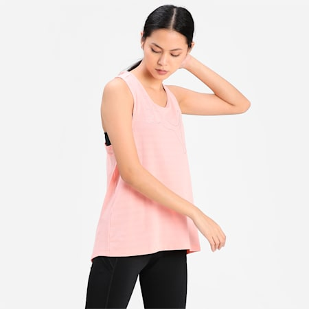 RTG Layer Women's Loose Tank Top, Apricot Blush, small-IND