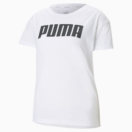 RTG Logo Relaxed Fit Women's T-shirt, Puma White, small-IND