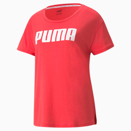 RTG Logo Relaxed Fit Women's T-shirt, Paradise Pink, small-IND
