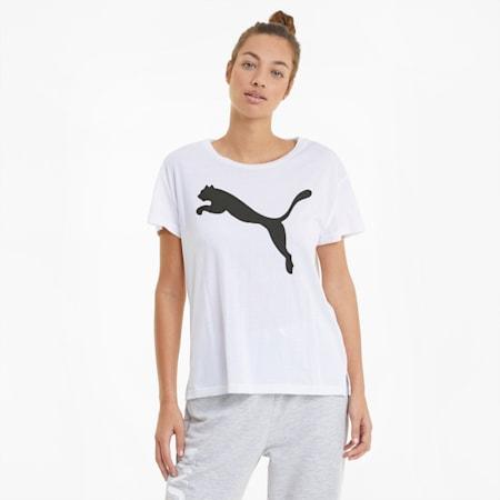 RTG Logo Women's Tee, Puma White-cat, small