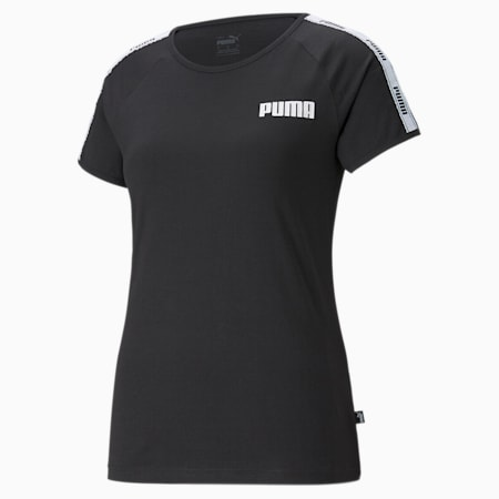 T-shirt à bande femme, Cotton Black, small