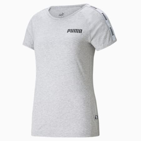 T-shirt con banda donna, Light Gray Heather, small