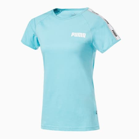 テープ Tシャツ 半袖 ウィメンズ, Milky Blue, small-JPN