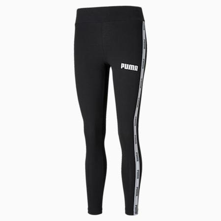 Damskie legginsy z ozdobną taśmą, Cotton Black, small