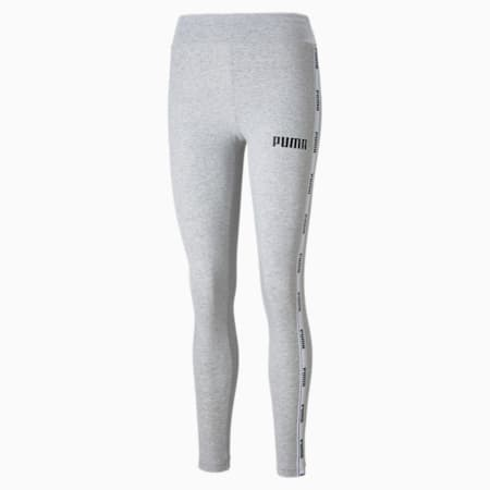 Tape Women's Leggings, Light Gray Heather, small-GBR