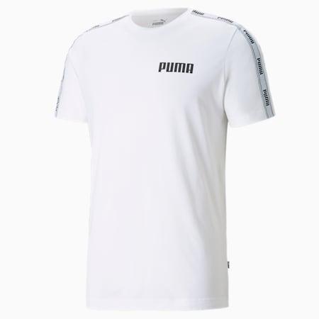 Tape Herren T-Shirt, Puma White, small