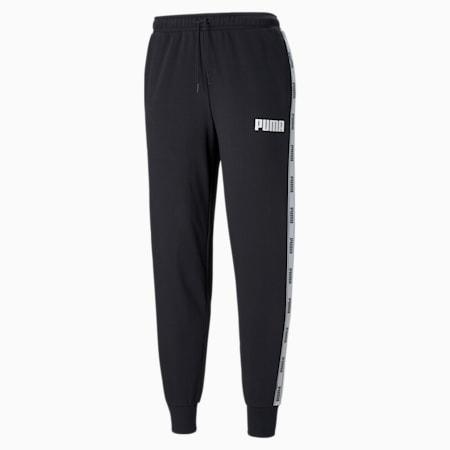 Pantaloni con banda laterale in french terry uomo, Cotton Black, small
