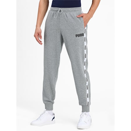 Tape French Terry Men's Pants, Medium Gray Heather, small-IND
