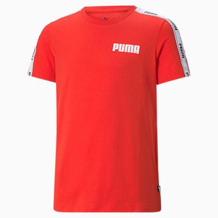 Młodzieżowy T-shirt z ozdobną taśmą, High Risk Red, small