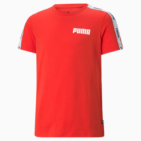 T-shirt à bande enfant et adolescent, High Risk Red, small