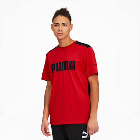 Goal Men's Tee, High Risk Red-Puma Black, small