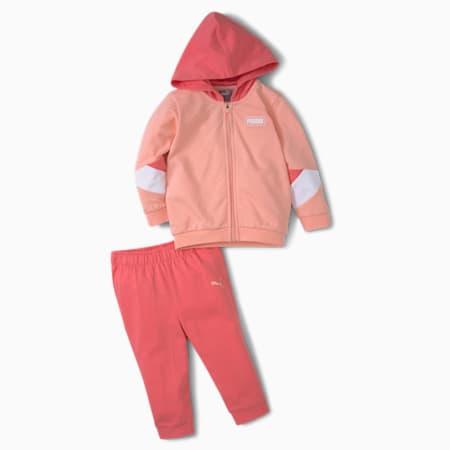 Minicats Crew Babies' Jogger Set, Apricot Blush, small