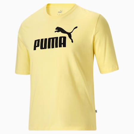 T-shirt à logo BT Essentials, homme, Poire jaune-Noir Puma, petit