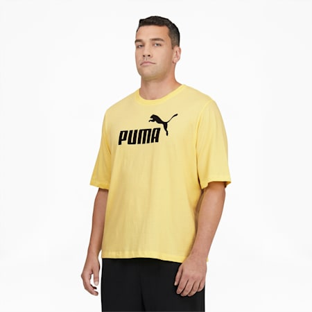 Camiseta con logo Essentials para hombreBT, Yellow Pear-Puma Black, pequeño