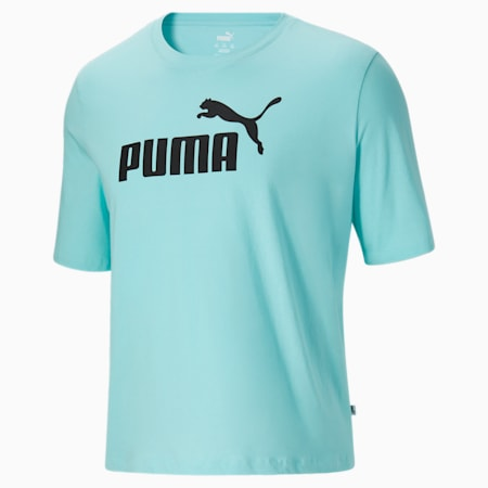 T-shirt à logo BT Essentials, homme, Bleu angélique-Noir Puma, petit