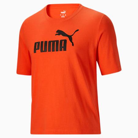 Camiseta con logo Essentials para hombreBT, Tigerlily-Puma Black, pequeño