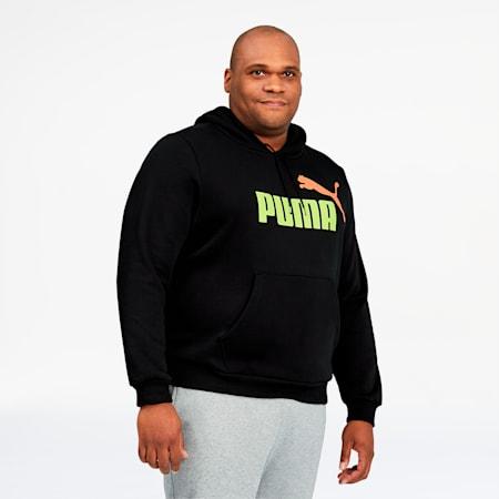 Essentials 2 Men's Big Logo Hoodie BT, Puma Black, small