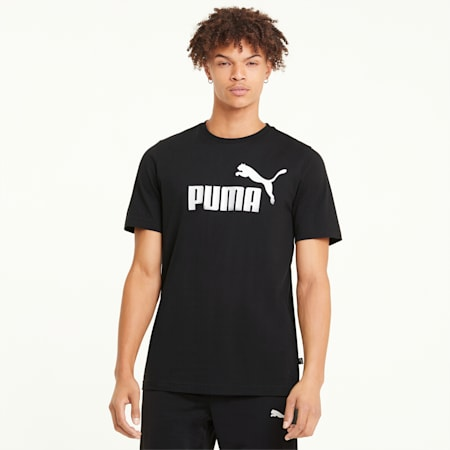 Essentials Logo Men's Tee, Puma Black, small-GBR