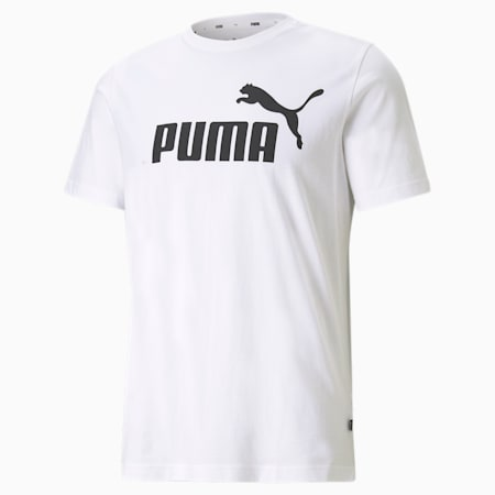 Essentials Logo Men's Tee, Puma White, small-GBR