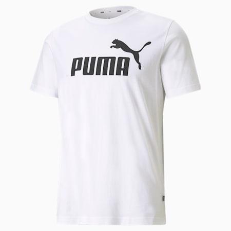 Essentials Logo Regular Fit Men's  T-shirt, Puma White, small-IND