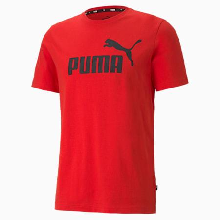 Essentials Logo Regular Fit Men's  T-shirt, High Risk Red, small-IND
