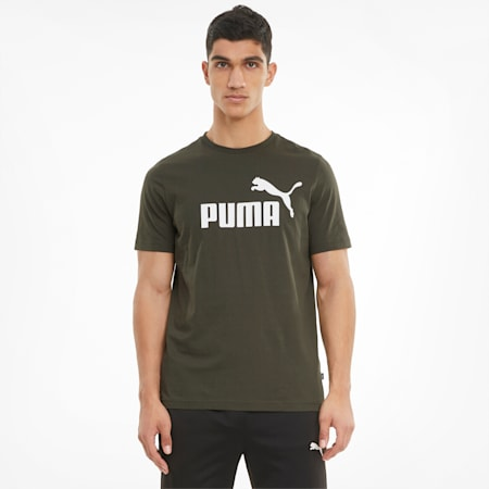 T-shirt Essentials Logo homme, Forest Night, small