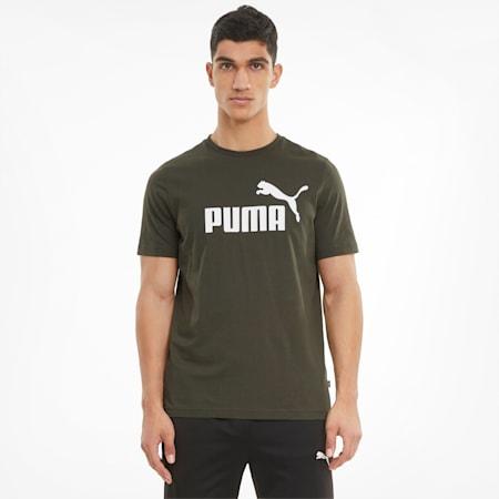 T-shirt con logo Essentials uomo, Forest Night, small