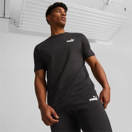Essentials T-shirt heren met klein logo, Puma Black, small