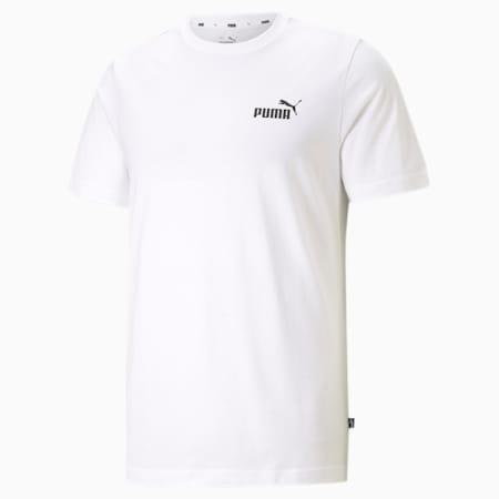 Essentials Small Logo Regular Fit Men's  T-shirt, Puma White, small-IND