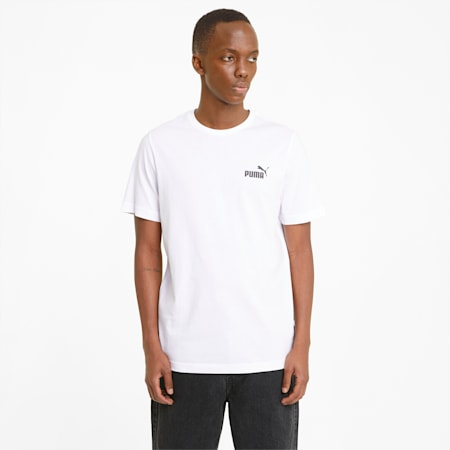 Męski T-shirt Essentials z małym logo, Puma White, small