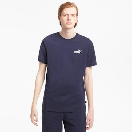 Essentials Herren T-Shirt mit dezentem Logoprint, Peacoat, small