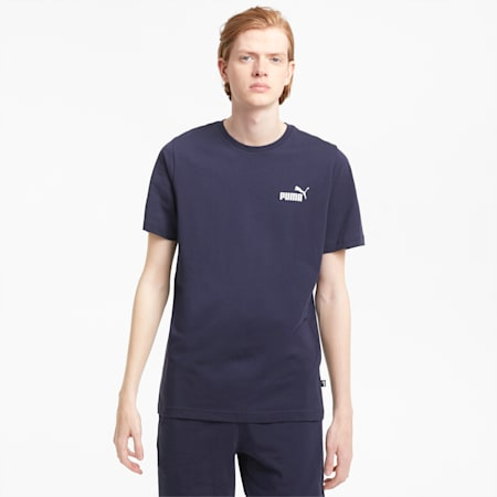 T-shirt Essentials Small Logo homme, Peacoat, small