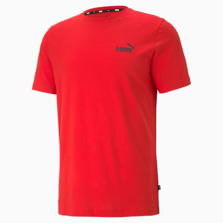 Essentials Small Logo Men's Tee, High Risk Red, small-SEA